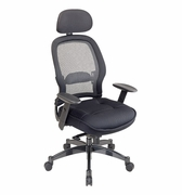 Professional Deluxe Matrex Back Chair with Adjustable Headrest and Mesh Seat