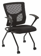 ProGrid Checkered Mesh Back Folding Chair