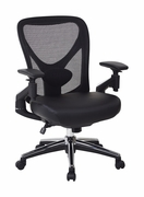 ProGrid Mesh Back Managers Chair with Leather Seat