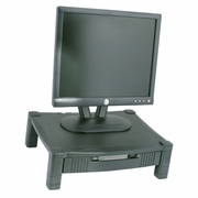 "Single Level Adjustable Monitor Stand With Drawer <font color=""red"">See all Sizes</font>"