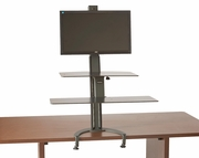 <b>Single or Dual</b> TaskMate Go Extra Large Height Adjustable Sit and Stand Workstation