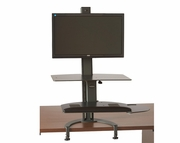 <b>Single or Dual</b> TaskMate Go Large Height Adjustable Sit and Stand Workstation