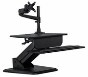 Sit-Stand Desk Converter and Height Adjustable Monitor Mount Combo Workstation