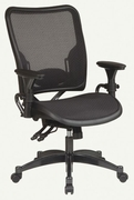 SPACE|Dual Function Ergonomic Air Grid Chair w/ Gunmetal Finish Accents