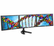"Spacedec 24"" LCD Monitor Freestanding Triple Display Stand"