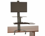 <b>Single or Dual</b> TaskMate Go Standard Height Adjustable Sit and Stand Workstation