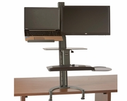 TaskMate Go Standard Laptop Height Adjustable Sit and Stand Workstation