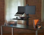 TaskMate Slide Assisted Laptop Height Adjustable Sit and Stand Workstation