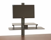 <b>Single or Dual</b> TaskMate Slide Assisted Height Adjustable Sit and Stand Workstation