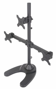"""Triple Freestanding Monitor Stand for Widescreen Monitors Up to 24"""""""