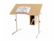 Wheelchair Accessible Desk w/ Comfort Curve and Book Nook