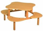 Wild Zoo's 4 Children Play Table