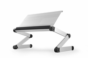 WorkEZ Executive Ergonomic Laptop Stand - Silver