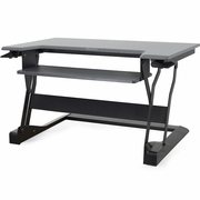 WorkFit-T Sit to Stand Desktop Workstation - Black or White