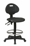 WorkSmart Intermediate Ergonomic Drafting Chair w/ Adjustable Footrest