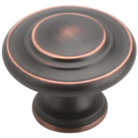 Amerock BP1586-ORB Oil Rubbed Bronze 3-Ring Cabinet Knob