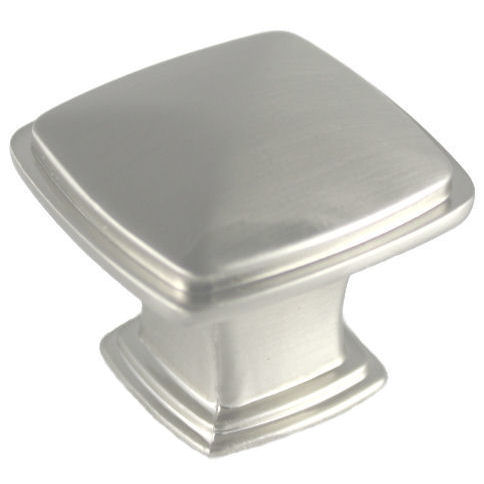 Cabinet knobs and handles satin nickel cabinet knob for Square kitchen cabinet knobs