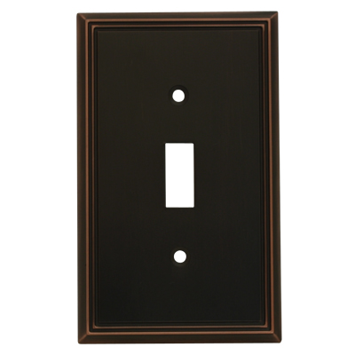 Cosmas 65003 Oil Rubbed Bronze Single Toggle Switchplate Cover