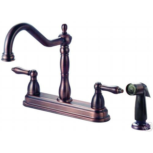 crystal cove oil rubbed bronze kitchen faucet w sprayer
