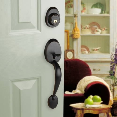 Front Door Handle Sets with Deadbolts
