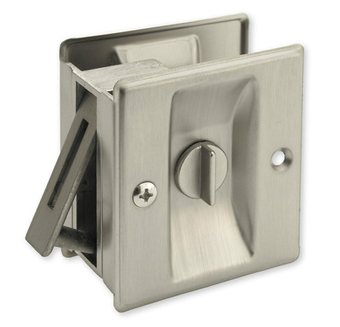 Satin Nickel Privacy Pocket Door Lock