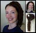 #1540 Human Hair Pigtails Hairpieces
