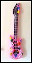 40 inch Inflatable Air Guitar -<br>  Pink Flower Power 60's