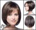 Aline Medium Brown Bob with golden highlights