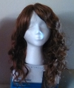 Wavy Curl auburn synthetic wig