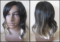 black and blonde synthetic wig