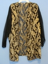 Black with Gold Leaf Pattern Night Shirt Size XLarge