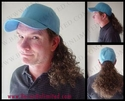 Bruce Baseball Cap with Curly Ponytail Hairpiece