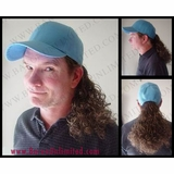 Bruce Baseball Cap with Curly Ponytail Hairpiece 3d7bf0d80c0