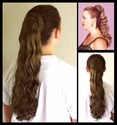 Coned braided Ponytail bun cover. COLOR 6 -- One left