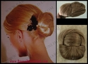 Flat Braided Bun Synthetic Wiglet