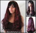 Gothic Chic Betty Page Long Synthetic Wig