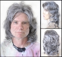 David<br> Synthetic Man's Long wavy wig