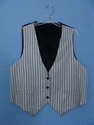 Grey Vest with Silver Stripes