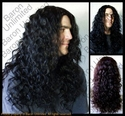Bue  -- 100% Human Hair Skin-top Long Man's Wig