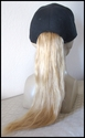 Human Hair -- Baseball cap with human hair ponytail