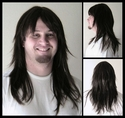 Jagged Cut <br> Long Man's Long Wig