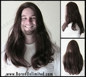 Leo -- 100% Human Hair  Skin-top Long Man's Wig