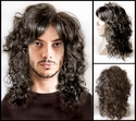 Sel<br> Synthetic Man's long curly wig