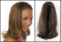 Long Human Hair 3/4 Cap Fall Hairpiece 16 inches  $199