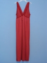 Long Red Night-gown w/Lace Large/XL