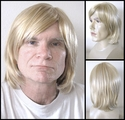 Gerry<br>  Synthetic full mono-top man's wig