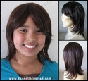 Mica Human Hair Girl's or Boy's Wig