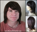 Mical <br> Human Hair Man's Wig