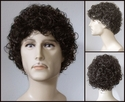 Nolan <br> Curly Synthetic Men's Wig