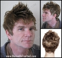 Ale Short spiky Fauxhawk<br>   Synthetic Man's Wig